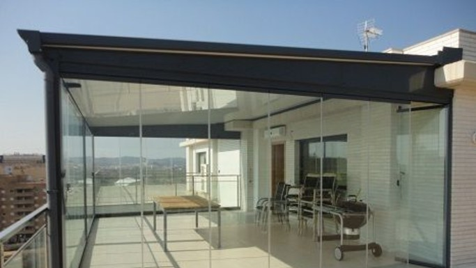 Cerramiento De Terraza En Madrid Aluminios Garcia Lema